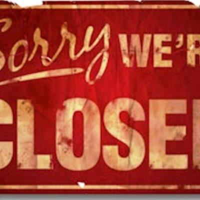 Siamo chiusi sino al 9 gennaio