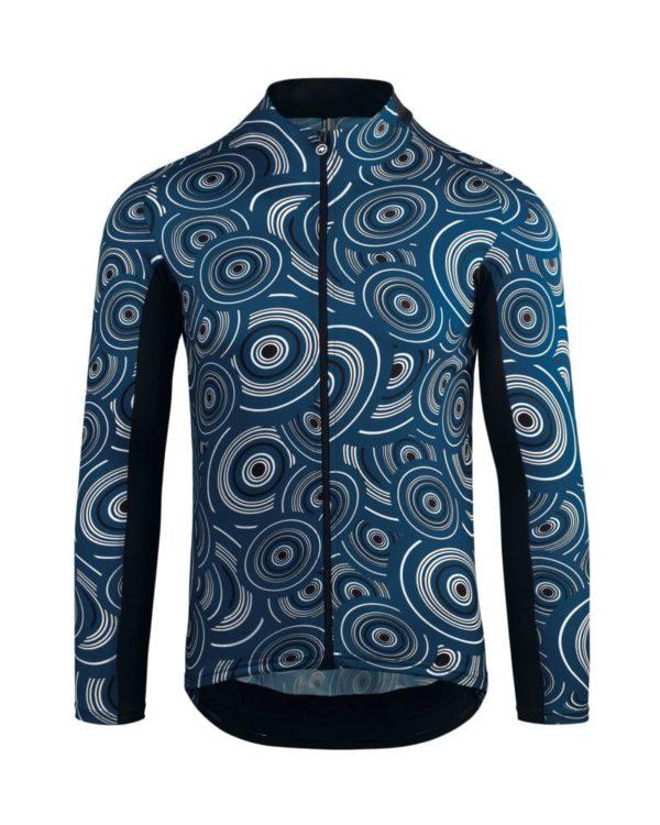 maglia assos mille gt short ls blu