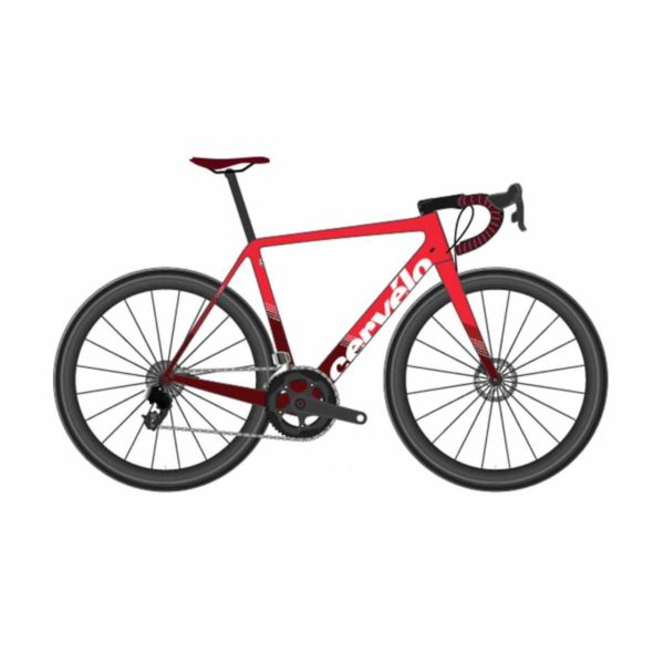 Cervelo R5 Disc Force eTap AXS - Red-Maroon