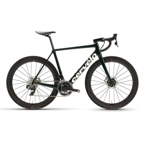 Cervelo R5 Disc Red eTap AXS - Green-Gold-White
