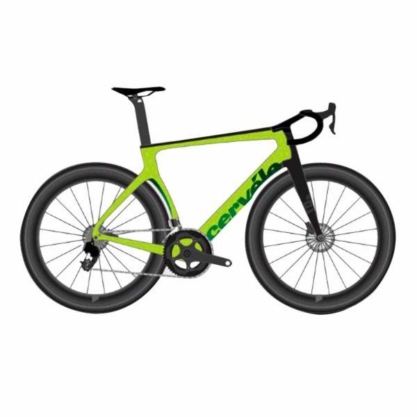 Cervelo S5 Disc Ultegra - Lime-Carbon-Green